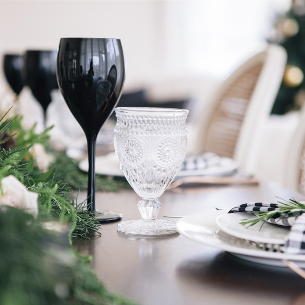 kerstcadeau voor haar - zwarte wijnglazen