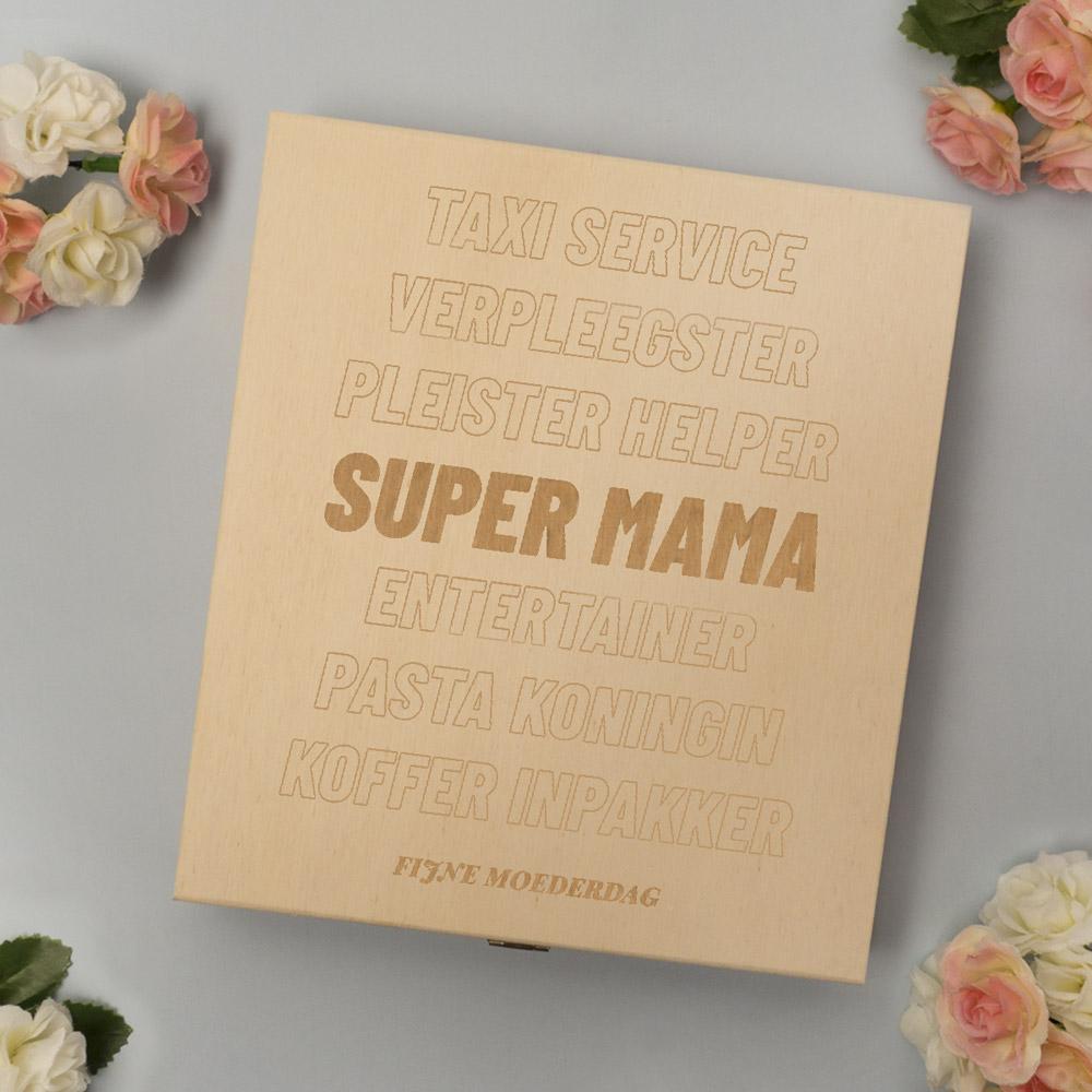 moederdag cadeau Personaliseerbaar kistje met bonbons