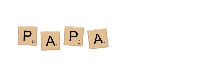 Metalltasse Scrabble Papa - DE/NL/FR